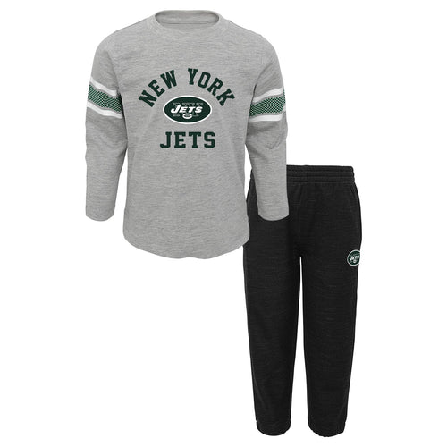 Jets Long Sleeve Shirt and Athletic Style Pants Set
