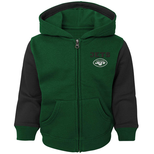 Jets Kid Zip Up Hooded Sweatshirt