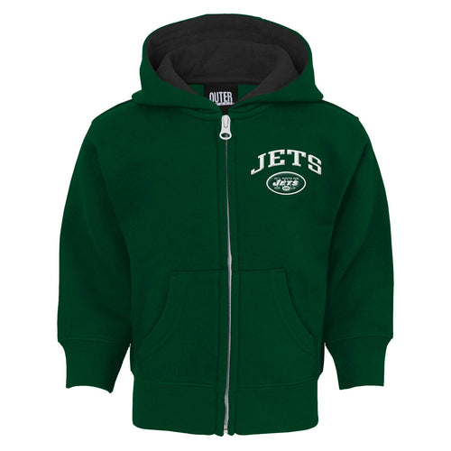 Jets Zip Up Hooded Sweatshirt