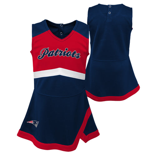 New England Patriots Toddler Cheerleader Dress (4T)