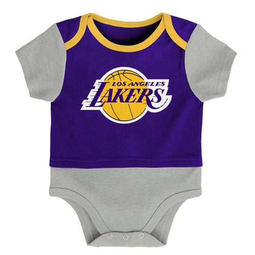 LA Lakers Referee Short Sleeve Baby Bodysuit