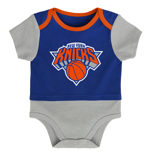 New York Knicks Referee Short Sleeve Baby Bodysuit