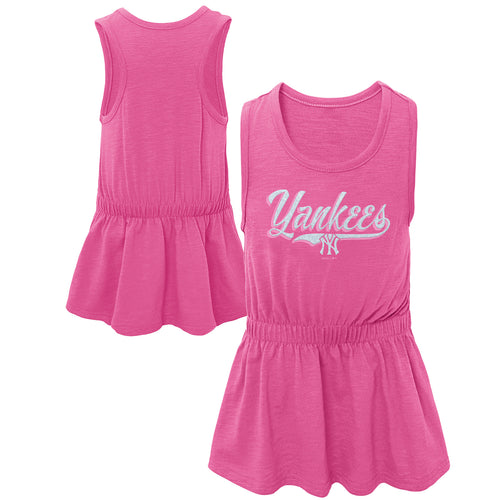 Yankees Baseball Pink Tank Dress