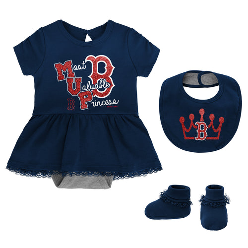 Red Sox Girl MVP Dress, Bib and Booties