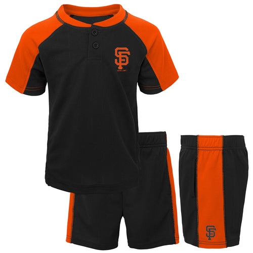 Giants Kid Baseball Shirt and Shorts Set