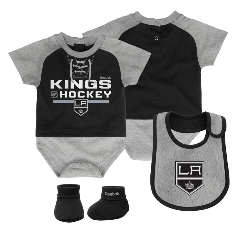 Kings Baby Onesie, Bib and Bootie Set