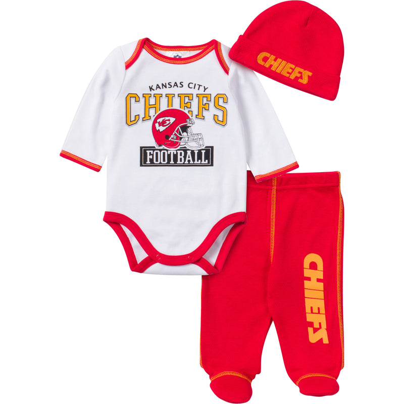 Baby Chiefs Fan 3 Piece Outfit