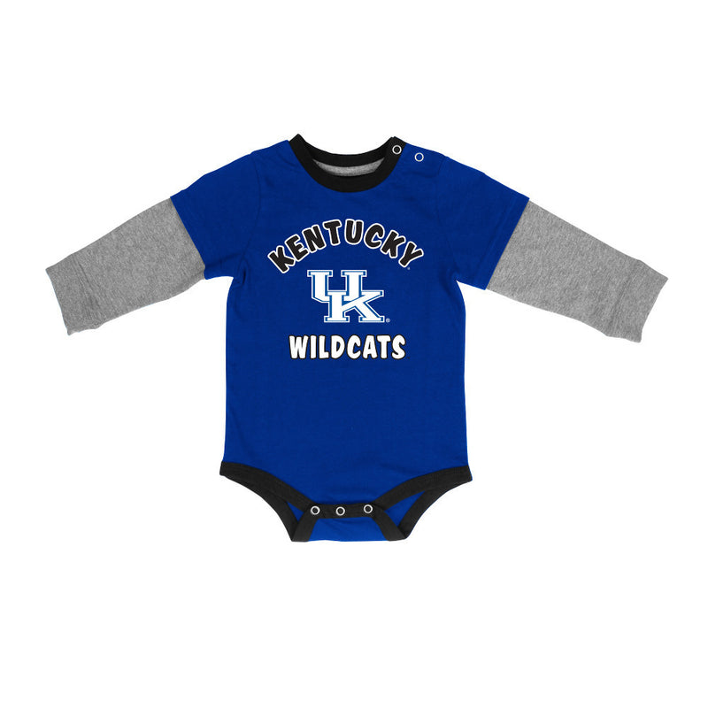 Kentucky Wildcats Layered Sleeve Infant Bodysuit