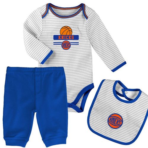 Baby Knicks Creeper, Bib and Pant Set
