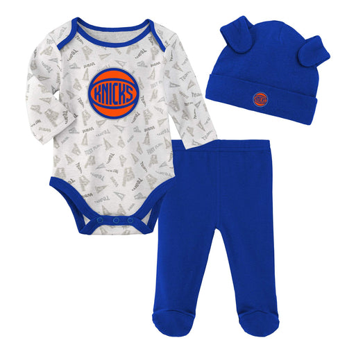Knicks Bodysuit, Pants and Cap Set