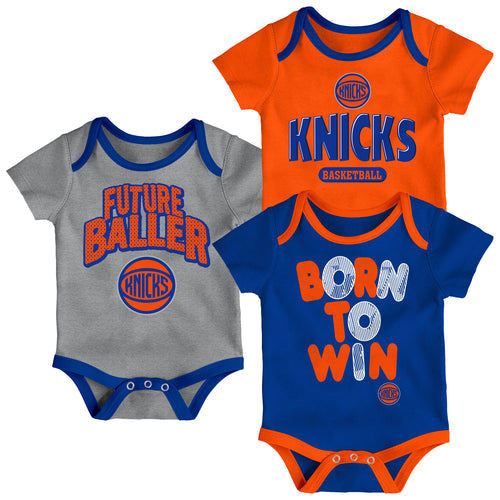 Knicks Future Baller 3-Pack Bodysuit Set