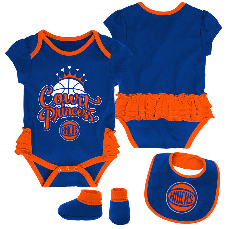 Knicks Court Princess Creeper, Bib and Booties Set