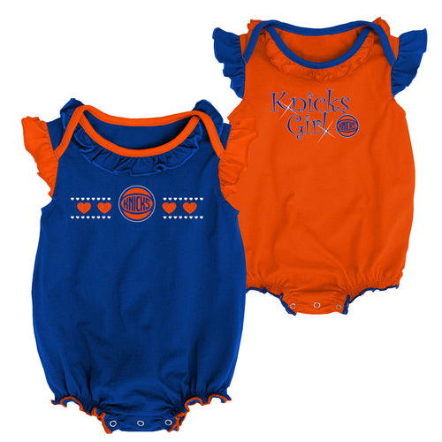 Knicks Baby Girl Duo Bodysuit Set
