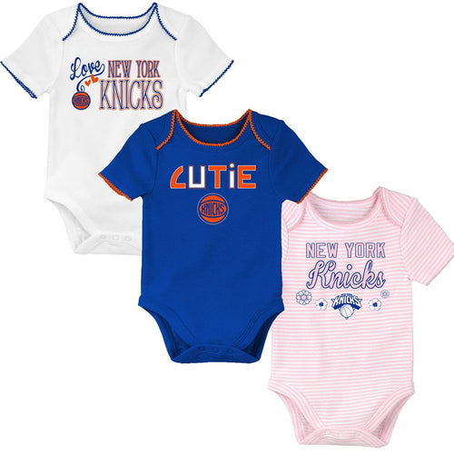 Knicks Baby Girl 3 Pack Short Sleeve Bodysuits