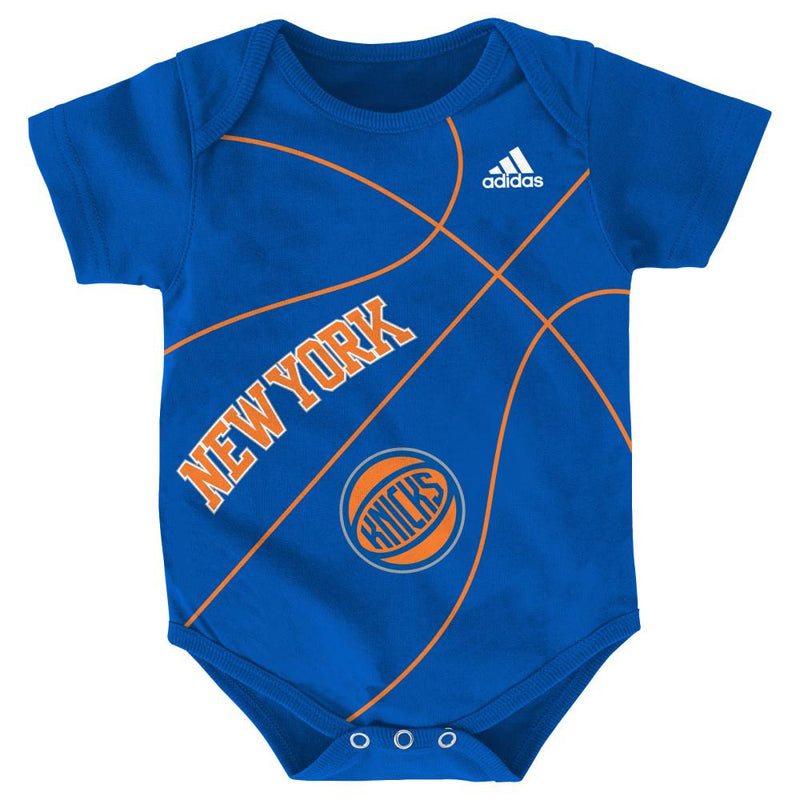 Baby Knicks Fan Basketball Onesie