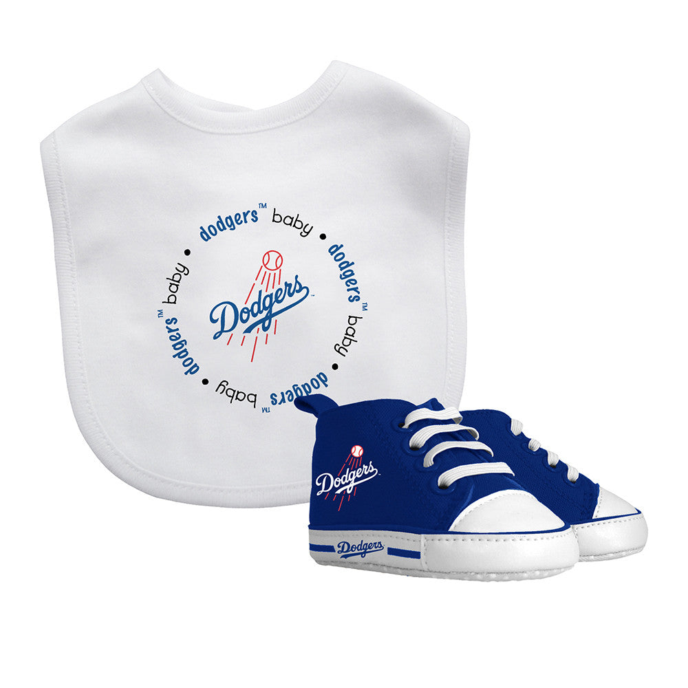 Dodgers Baby Bib With Pre Walking Shoes Babyfans