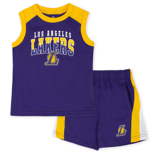 Lakers Basketball Sleeveless Shirt and Shorts Set