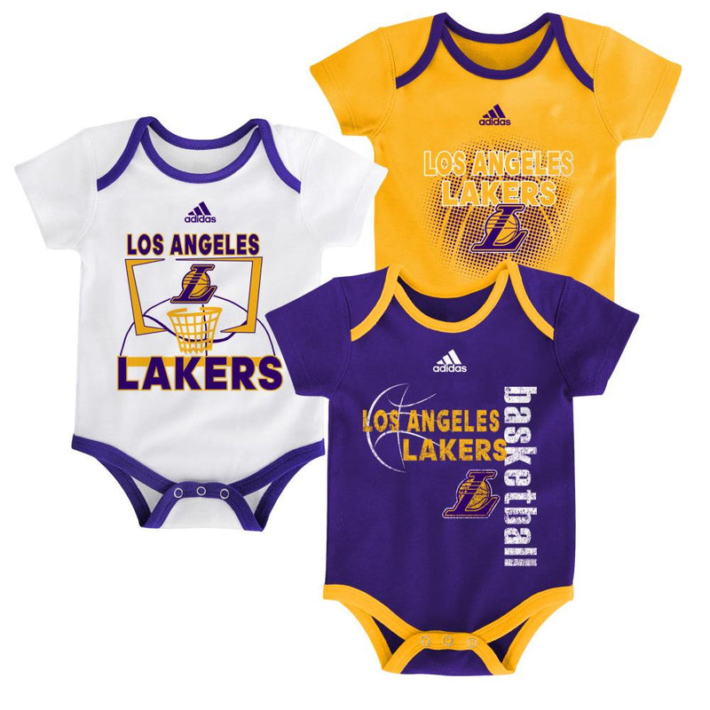 Lakers Infant 3 Point Bodysuit Set