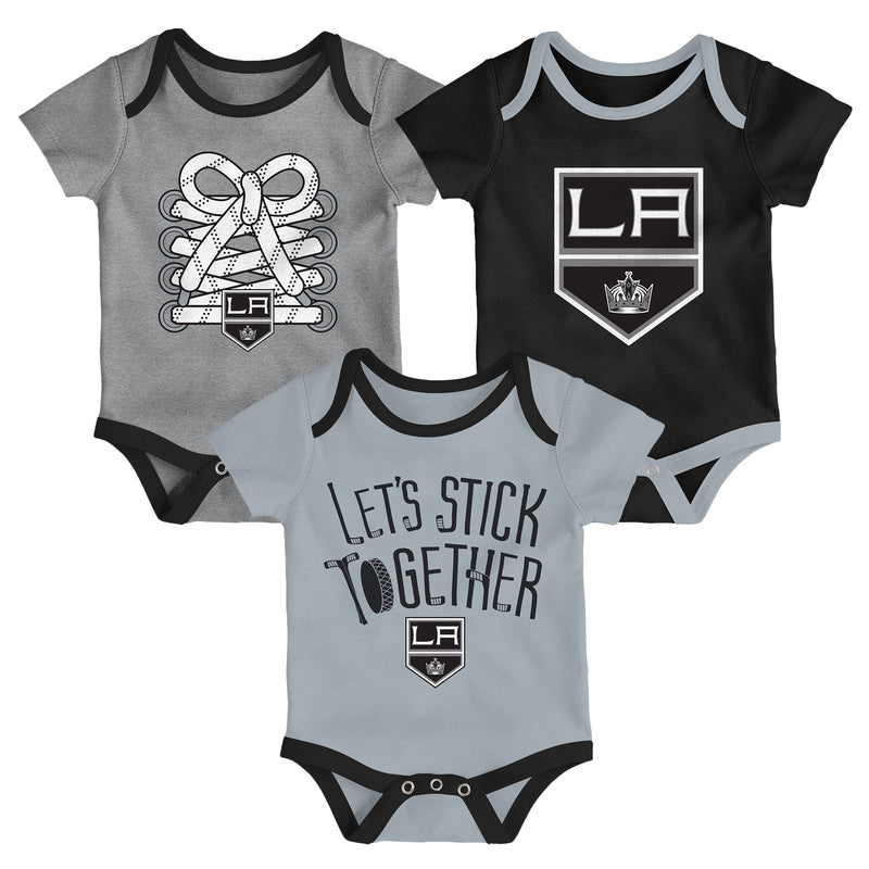 LA Kings Let's Stick Together 3-Pack Bodysuit Set