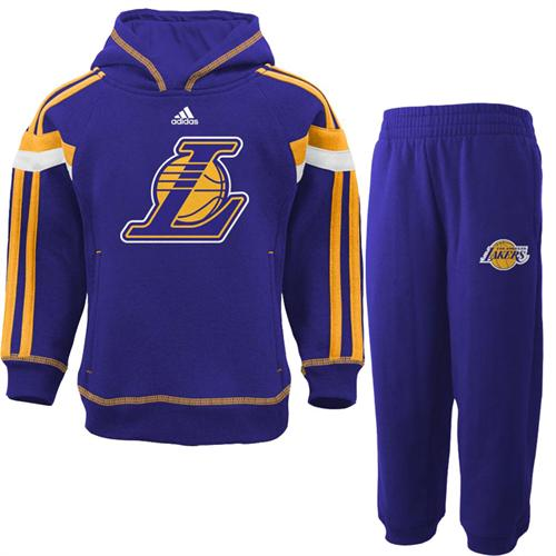 cdf80e9bd5b L.A. Lakers Infant Toddler Fleece Hoody with Pants – babyfans