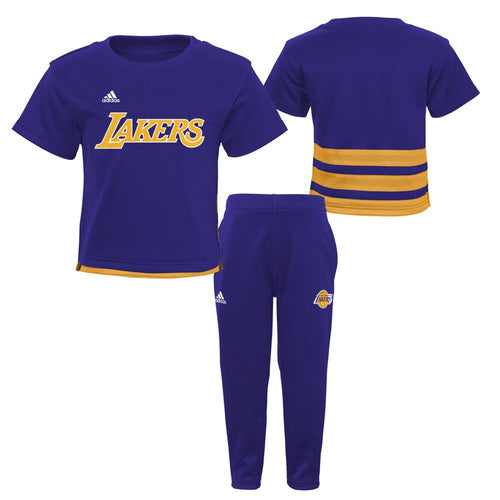 LA Lakers Infant/Toddler Short Sleeve Shirt and Pants Outfit