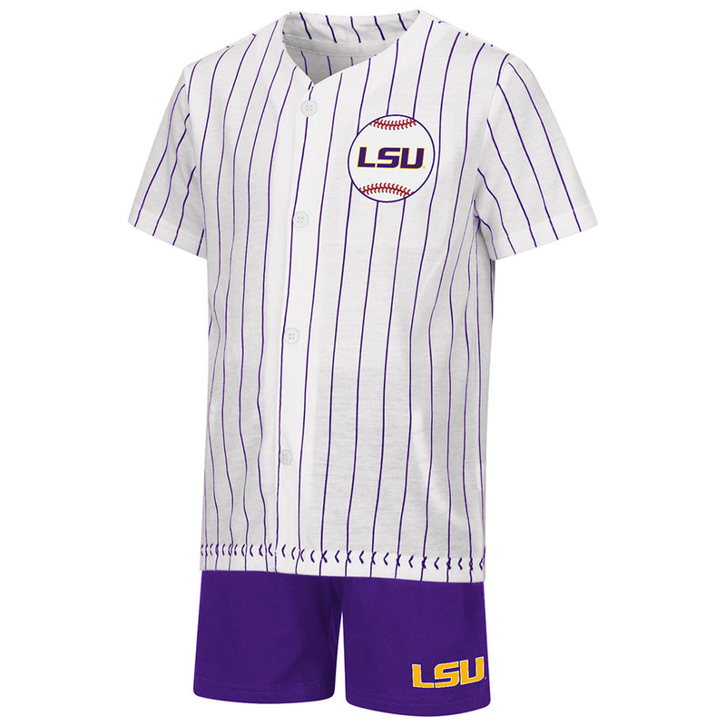LSU Baseball Shirt and Shorts Set