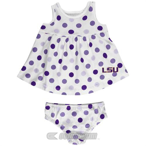 LSU Baby Dotty Sundress with Bloomers