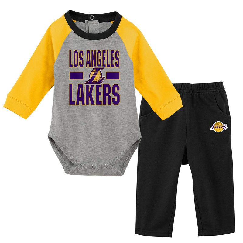 Lakers Long Sleeve Bodysuit and Pants