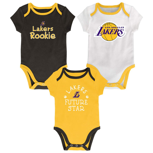 Lakers Future Star 3 Pack Bodysuit Set