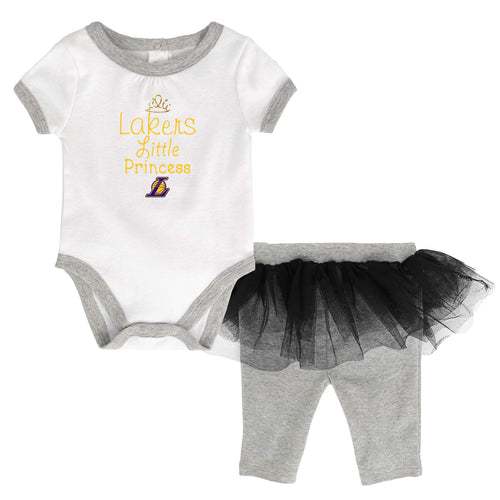 Lakers Princess Bodysuit with Tutu Leggings