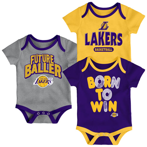 Lakers Future Baller 3-Pack Bodysuit Set