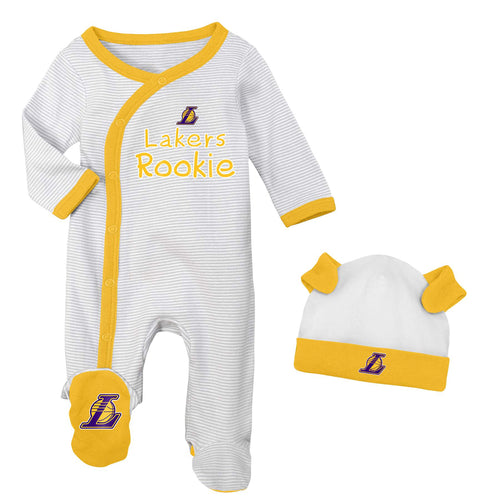 Los Angeles Lakers Rookie Coverall with Cap