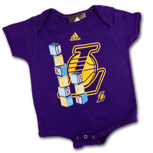 Lakers Baby Blocks Body Suit