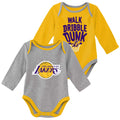 Lakers Long Sleeve Bodysuit Set