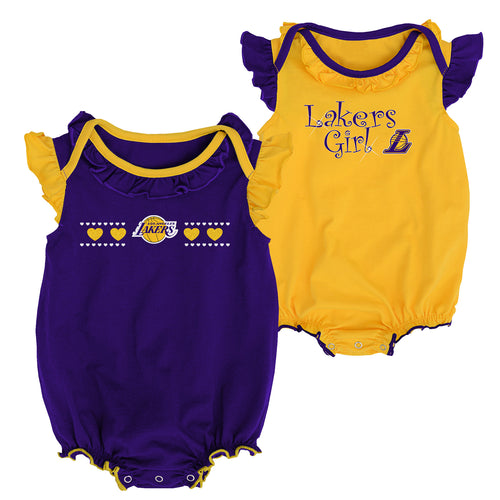 Lakers Baby Girl Duo Bodysuit Set