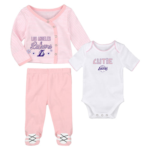 d433ce44d2b Los Angeles Lakers Little Cutie Girl 3 Piece Set