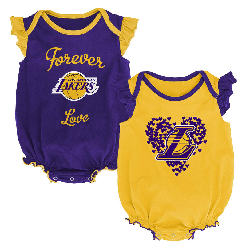 LA Lakers Baby Girl Bodysuit Set