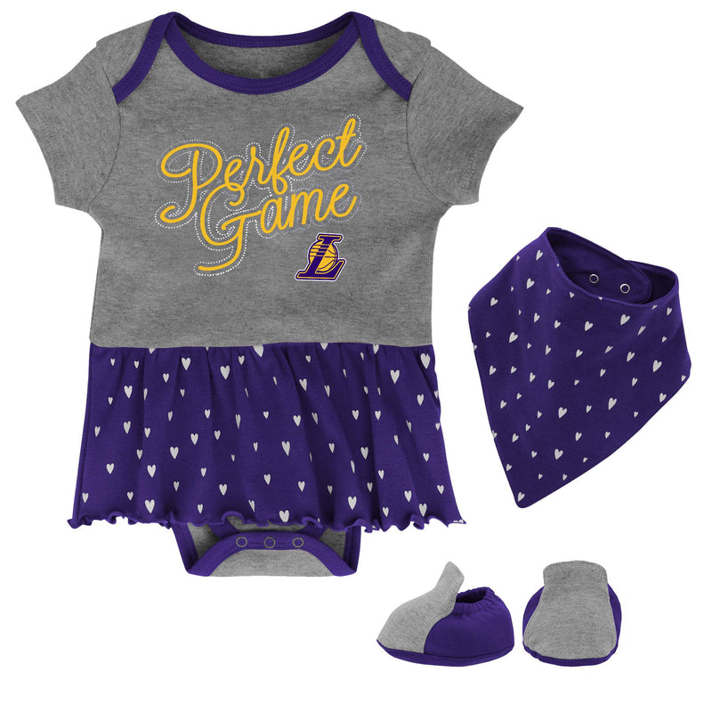 Lakers Girls Bodysuit, Bandana Bib and Bootie Set