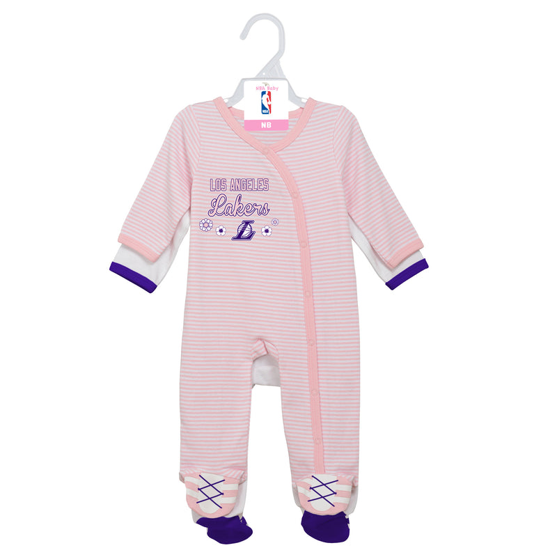 Lakers Girl Pink Infant Gameday Coveralls