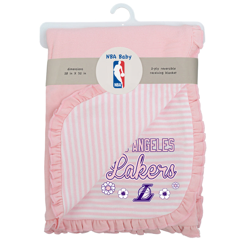Lakers Girl Newborn Baby Blanket