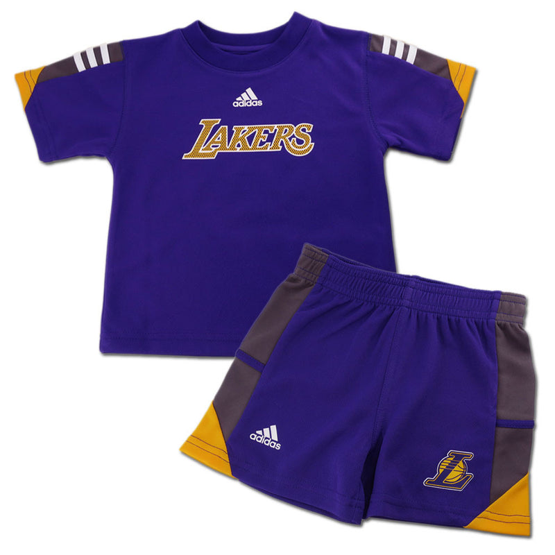 Lakers Classic Short Sleeve Shirt and Shorts Set
