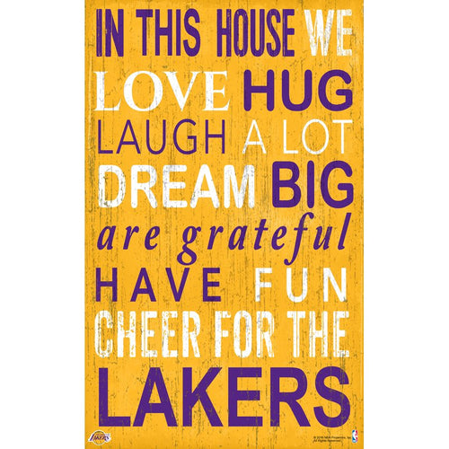Lakers Baby Nursery Wall Art