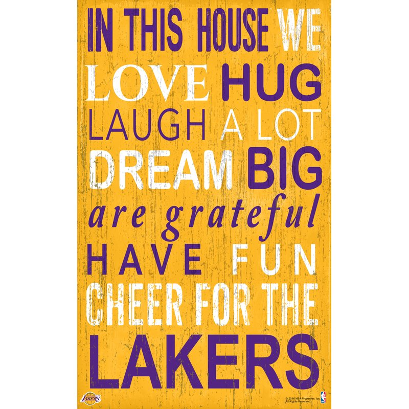 Lakers In This House Wall Decor – babyfans