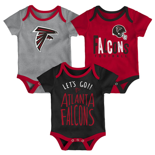 Falcons Let's Go 3-Pack Bodysuit Set