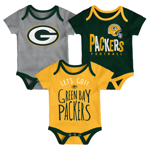 Packers Let's Go 3-Pack Bodysuit Set