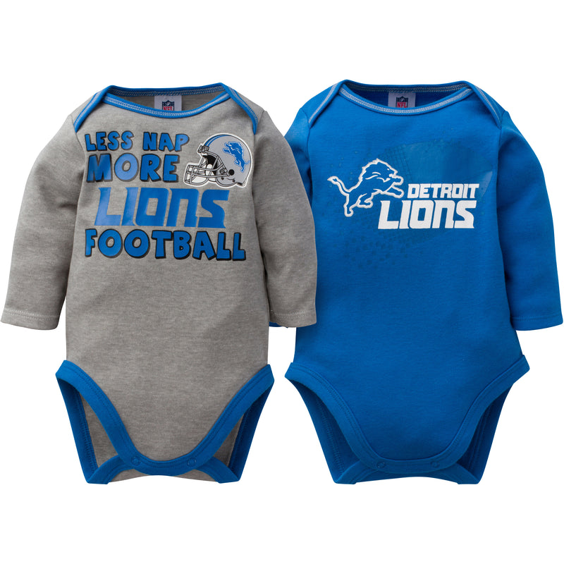 Baby Lions Long Sleeve Onesie Two Pack
