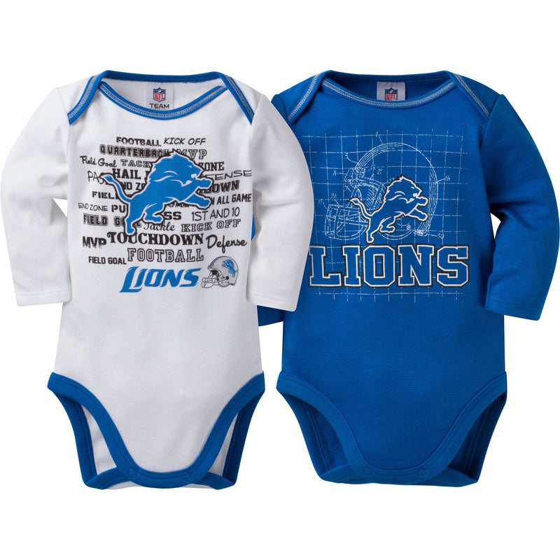 Lions Infant 3-Pack Logo Onesies