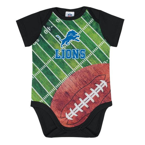 Detroit Lions Baby Boy Short Sleeve Bodysuit