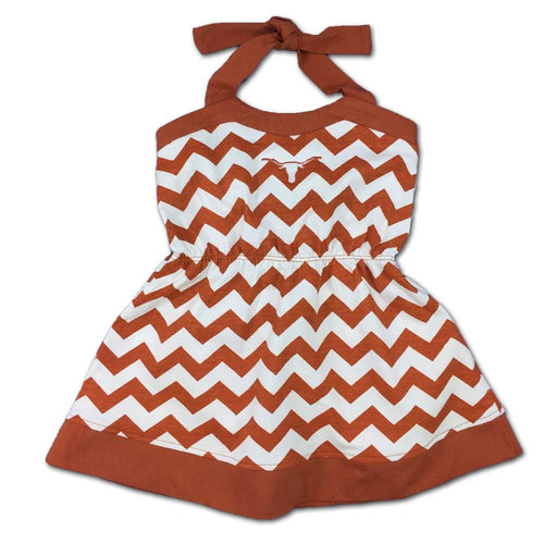 Texas Girl Chevron Print Halter Sundress