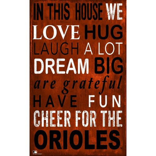Orioles In This House Wall Décor.